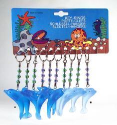 "Přívěšek delfín ""barevné sklo"" 2barvy (12)"