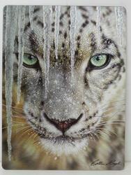 Pohlednice 3D 16cm - sněžný leopard (25)