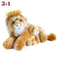 Lev 40cm s mládětem 13cm, plyš