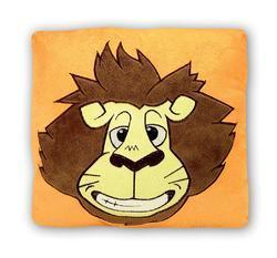 Polštář lev plyš, 30x30cm