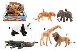 Zvířátko safari ZOO plast 11-17cm (6ks/bal)