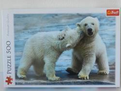 Puzzle Polární Medvědo 500dílků 48x34cm v krabici (8)