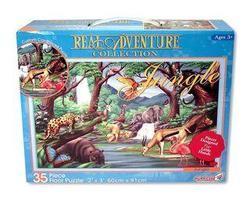 Puzzle safari 60cm x 91cm, 35 dílků