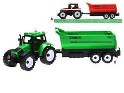Traktor s vlečkou 29cm na setrvačník 2barvy v krabičce