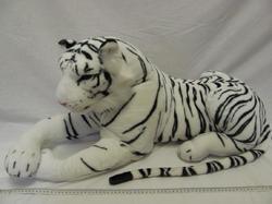 Tygr bílý plyš 90cm (9)