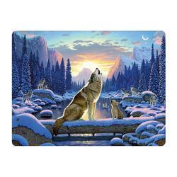 Pohlednice 3D 16cm - vlci (25)