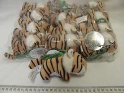 Klíčenka tygr hnědý plyš 8cm(12ks/bal)