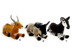 Zvířata plyš mix 30cm (Okapi, Antilopa, Pakůň)