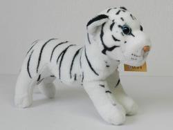 Tygr bílý stojící plyš 20cm (130/karton)