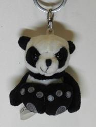 Klíčenka panda plyš 6cm(12)