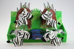 Klíčenka zebra plyš 11cm(12)