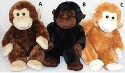 Opice sedící plyš 40cm, 3druhy