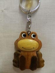 Přívěšek dřevo - žabka (6)