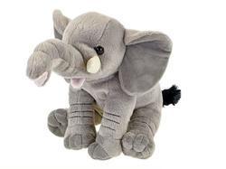 Slon sedící plyš 20cm