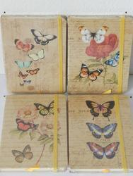 Zápisník A6 motýl, 96l, 4dr (12)