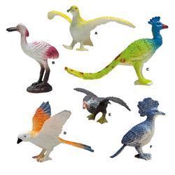 Ptáci plast 7cm, 6druhů