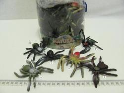 Pavouk měkký gumový 10cm 6druhů (60ks v dóze)