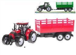 Traktor s vlečkou 38cm na setrvačník, 2druhy