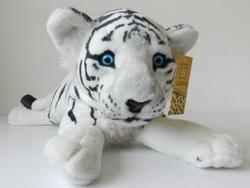 Tygr bílý plazící plyš 60cm
