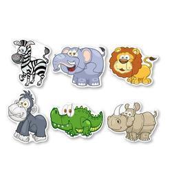 Puzzle velké zvířata divoká