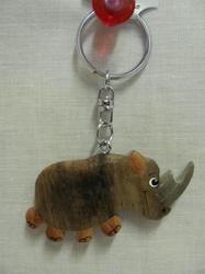 Přívěšek dřevo - nosorožec (6)