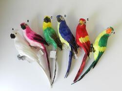 Papoušek s peřím 45cm, 6dr
