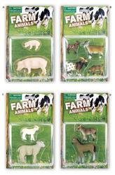 Zvířátko farma 6cm, na kartě, 4dr