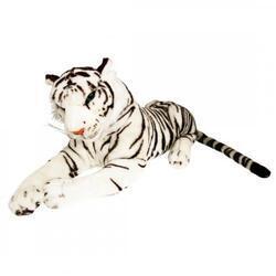 Tygr bílý plyš ležící 103cm