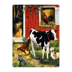 Pohlednice 3D 16cm - stodola se zvířátky (25)