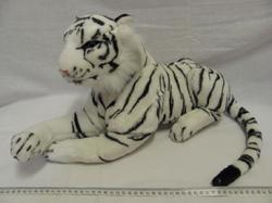 Tygr bílý plyš ležící 45cm
