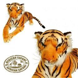 Tygr hnědý ležící plyš 160cm