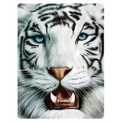 Pohlednice 3D 16cm - tygr bílý (25)