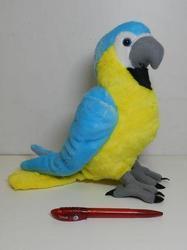 Papoušek Ara ararauna plyš 35cm