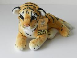 Tygr hnědý ležící bokem 30cm