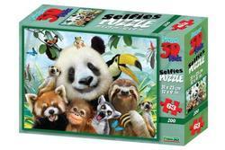 Puzzle 3D Zoo selfie 63dílků