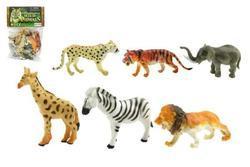 Zvířátka safari ZOO plast 10cm, set 6ks v sáčku (24)