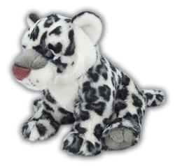 Sněžný leopard sedící plyš 46cm