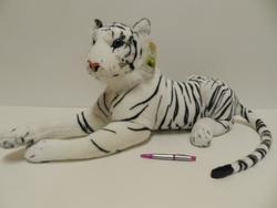 Tygr bílý plyš 70cm (14)