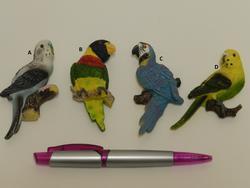 Magnet papoušek poly. 4dr. 9cm
