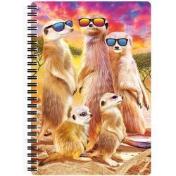 Notes 3D 14x21cm - surikaty s brýlemi