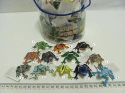 Žába gumová  barevná 5cm (72ks v dóze)