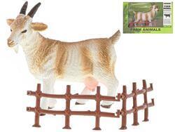 Koza 13cm s ohradou v krabičce