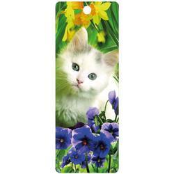 Záložka 3D 15,5x5,7cm - kočka