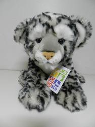 Leopard sedící, plyš 23cm