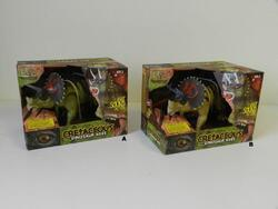 Triceratops na baterie,světlo, zvuk, pohyb, 25cm, 2dr