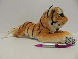 Tygr hnědý plazící, plyš 45cm (30/karton)