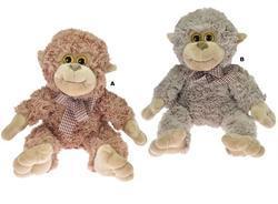 Opice s mašlí plyš 30cm, 2druhy