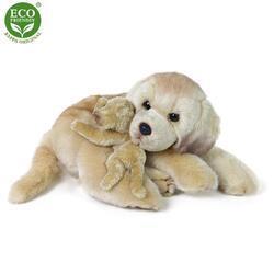 Pes labrador se štěňátkem plyš 27cm