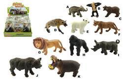 Zvířátka safari ZOO plast 6cm 11druhů (24ks)