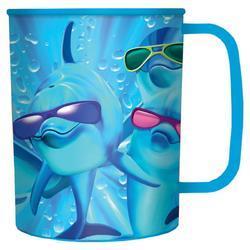 Hrnek 3D plast - delfíni s brýlemi, 300ml (15)